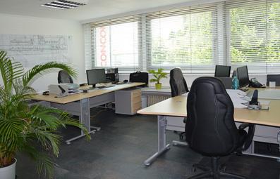 Helle Büroräume
